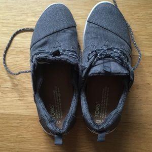 Toms Steel Grey Poly Women's Del Rey Sneakers.